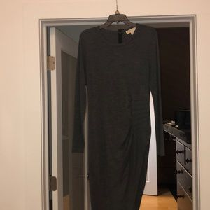 Michael Kors charcoal grey dress with long sleeves